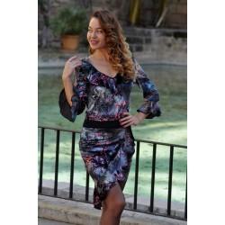 Dress velvet print - ANTWERP