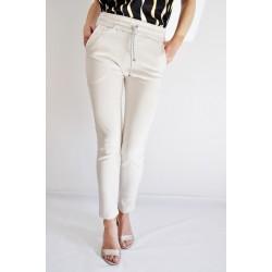 Pants Cream suede - Mod. JASMINE