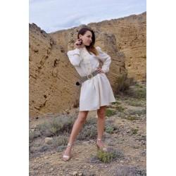 Collar dress Cream - Mod. LINUM