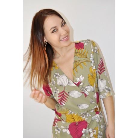 Dress Kaki print - Mod. PALM