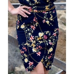 Skirt marine flowerprint - Mod. ASTER