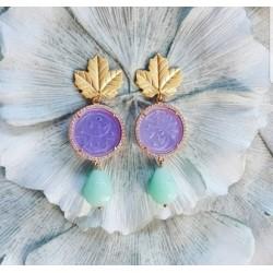 Earring jade/lila ZOA