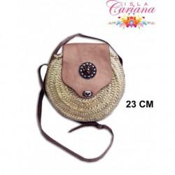 Small bag raffia leather PEDRERIA