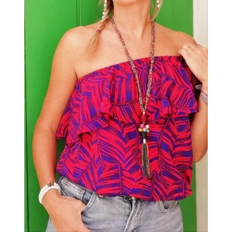 Blusa colores off-shoulder KAY G.