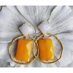 Earring ARETTE 001 ocre lila