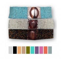 Cinturón piedritas  dif. colores