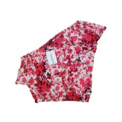 Blouse beige red flowerprint off-shoulder KAY G.