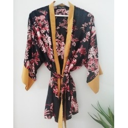 Kimono batik gouden streep - Mod. KIM