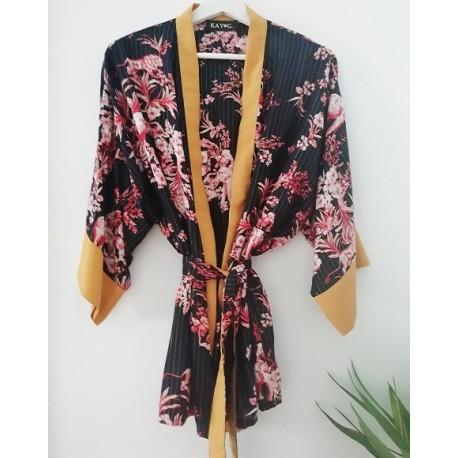 Kimono batik golden stripes - Mod. KIM