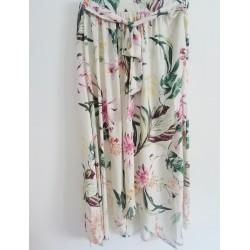 Falda larga crudo flor - Mod. LEAF