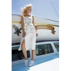 Dress LORALIE cream stripes