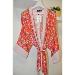 Kimono floral rojo - Mod. KIM