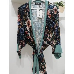 Kimono dark blue/stripes gold - Mod. KIM