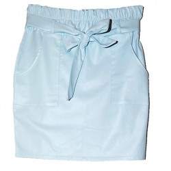 Skirt Light blue leatherlook – AZUR