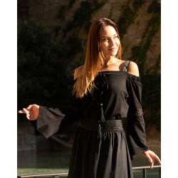 Blouse Black straps off-shoulder - PARIS