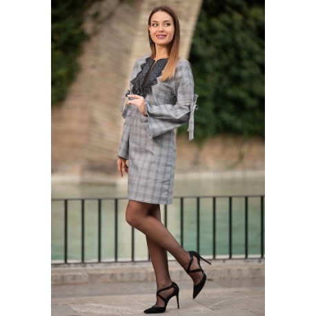 Dress squares with collarpatch - FLORENCE