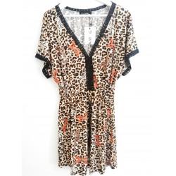 Vestido leopardo - DAHLIA