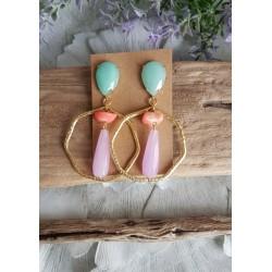 Earring BALI pastel