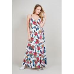 Lange jurk exotische print VALENTINO