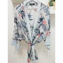 Kimono bloemenprint lightblue - Mod. KIM