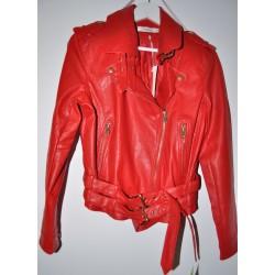 Lederlook rood jasje