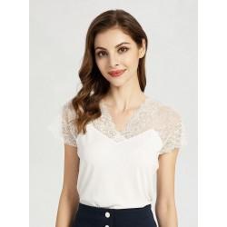 Blusa blanca con encaje SWEET