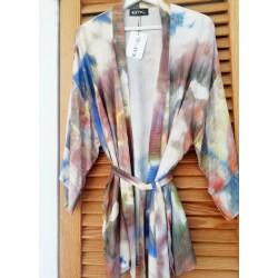 Kimono beige batik - Mod. KIM
