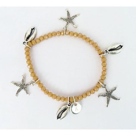 Bracelet  beige/silver KAY G.