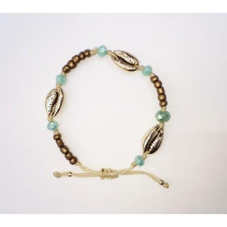 Bracelet stones bronze  Kauri Gold KAY G