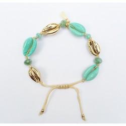 Bracelet Kauri Gold/Turkoise KAY G