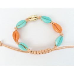 Bracelet Kauri Turkoise/Orange KAY G