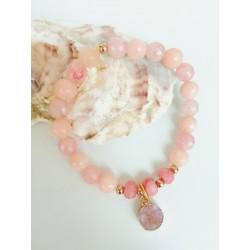Bracelet  pink jade stones KAY G.