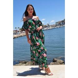 Lange jurk exotische print
