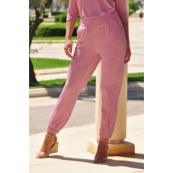 Pants pink with lurex - Mod. JOGG2