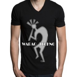 Tshirt WARAO V-neck black