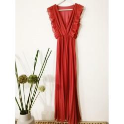 Lange jurk  plooien