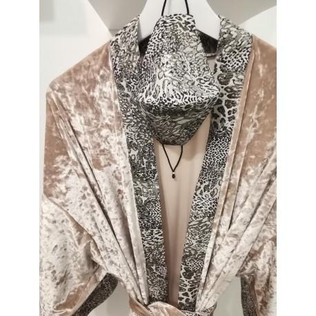Kimono vest KAY G. fluweel nude