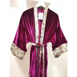 Kimono KAY G. terciopelo morado