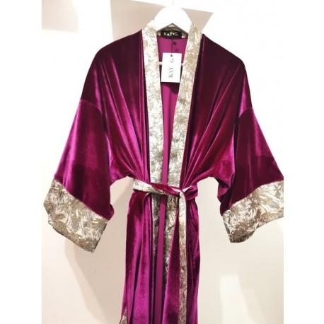 Kimono KAY G. velvet purple