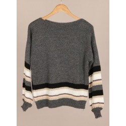 Light grey sweater - stripes