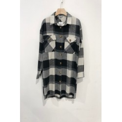 Long blouse print sq. - Black