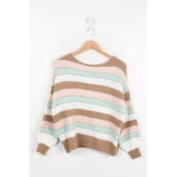 Sweater stripes beige