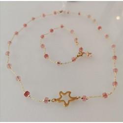 Set ´Collar & bracelet pink stones´