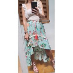 Boho short-long skirt KAY G. - Mod. HIPPIE2
